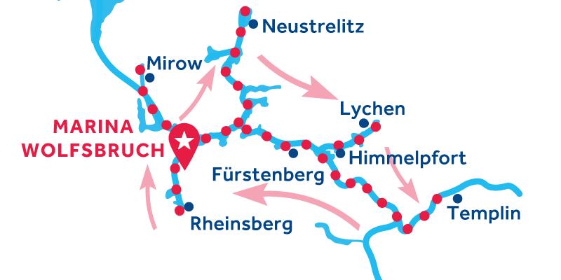 Marina Wolfsbruch ANDATA E RITORNO via Rheinsberg, Mirow, Neustrelitz, Lychen, Templin