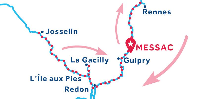 Messac ANDATA E RITORNO via Rennes e Josselin
