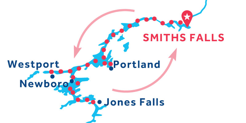 Smiths Falls ANDATA E RITORNO via Jones Falls
