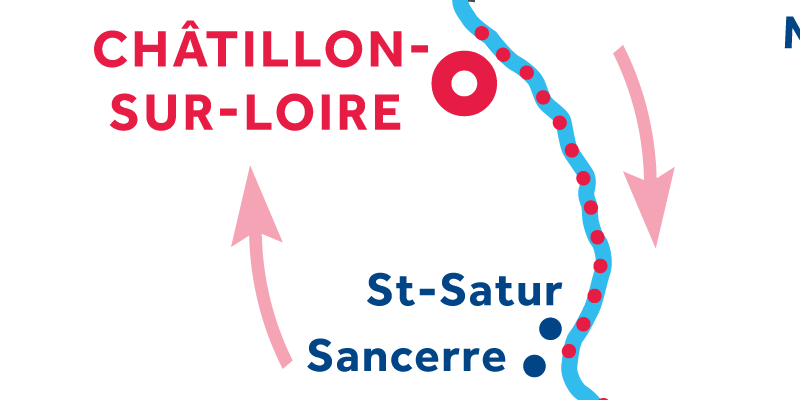 Châtillon-sur-Loire ANDATA E RITORNO via Sancerre