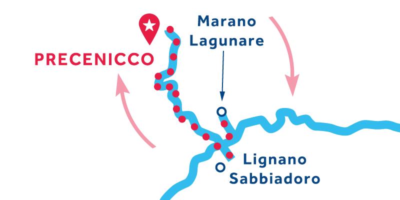 Precenicco ANDATA E RITORNO via Marano