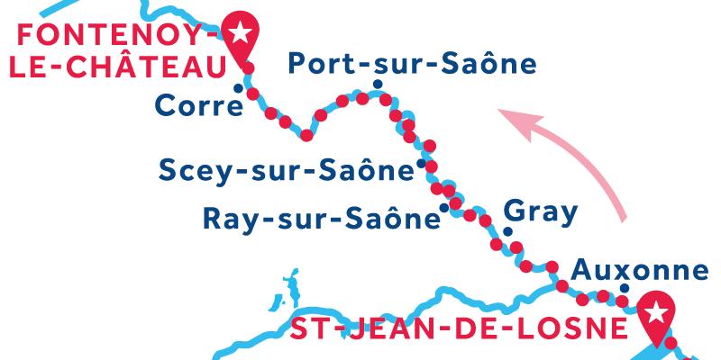 Da Saint-Jean-de-Losne a Fontenoy-le-Château