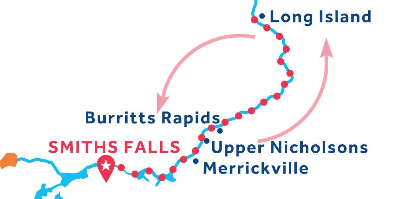 Smiths Falls ANDATA E RITORNO via Long Island