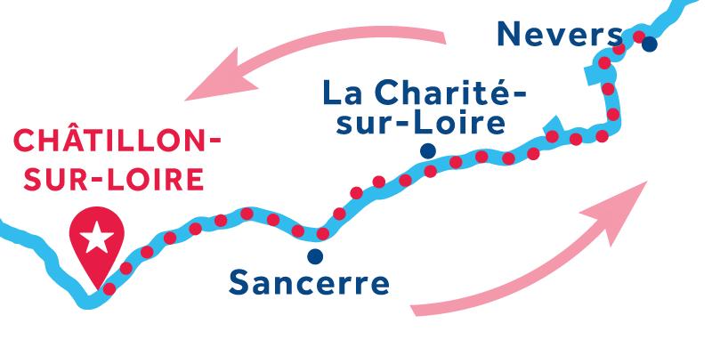 Châtillon-sur-Loire ANDATA E RITORNO via Sancerree Nevers