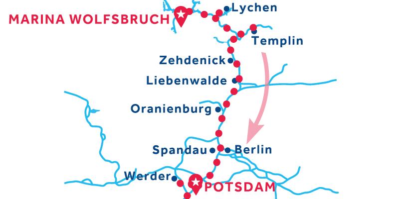Da Marina Wolfsbruch a Potsdam (patente obbligatoria)