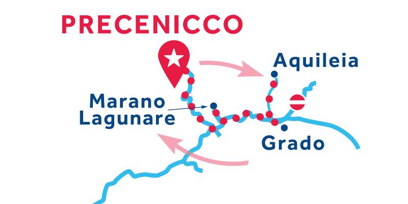 Precenicco ANDATA E RITORNO via Marano Lagunare & Lignano Riviera