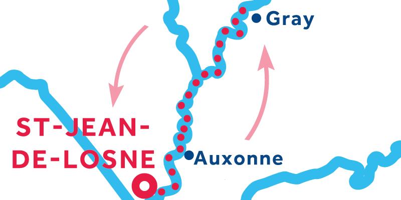 Saint-Jean-de-Losne ANDATA E RITORNO via Gray