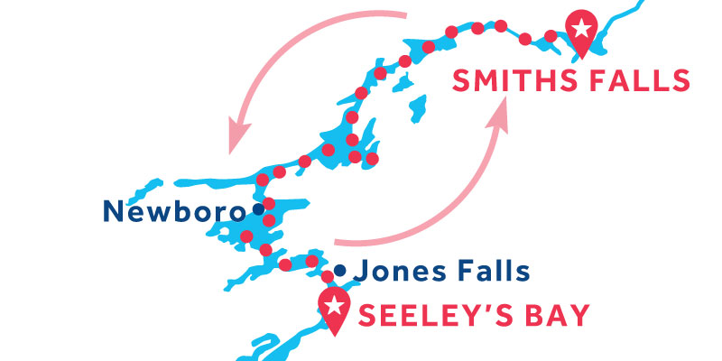 Smiths Falls ANDATA E RITORNO via Seeley's Bay