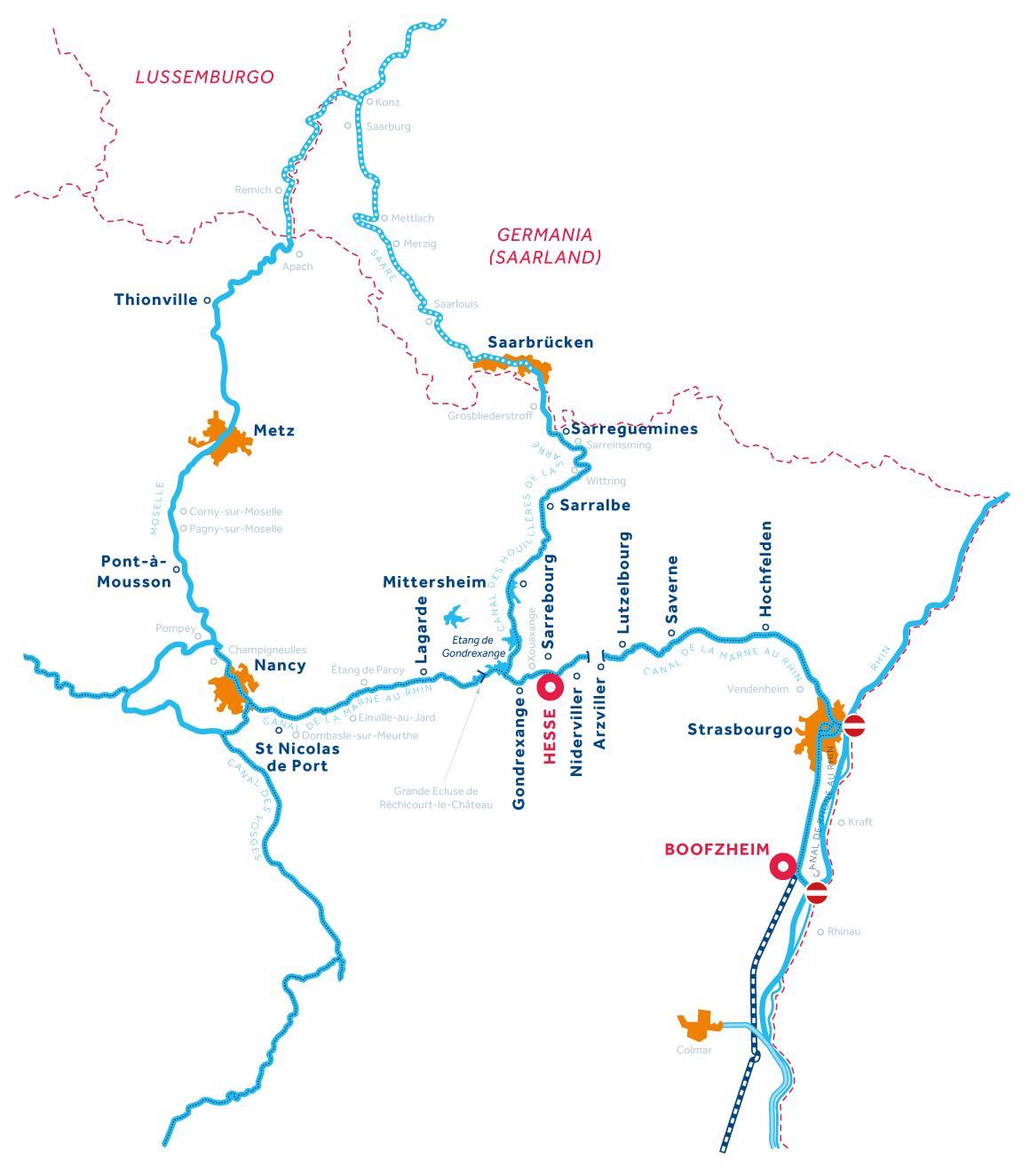 Mappa: Alsazia-Lorena