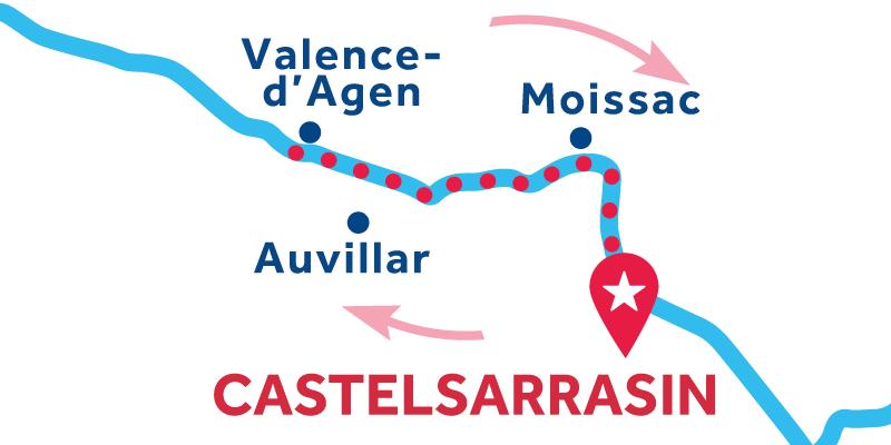 Castelsarrasin ANDATA E RITORNO via Valence-d'Agen