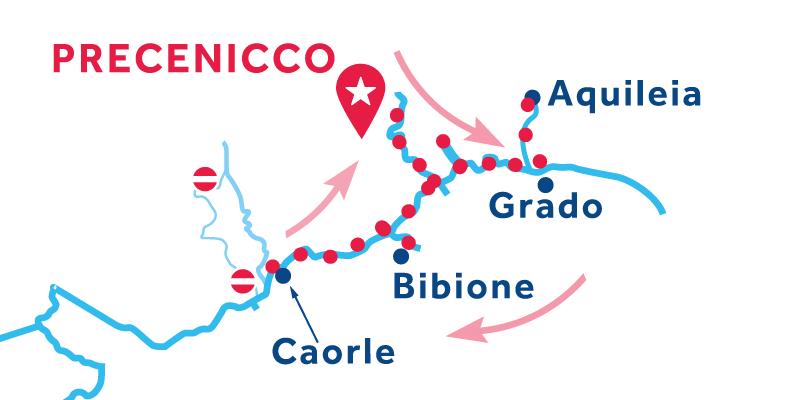 Precenicco ANDATA E RITORNO via Marano Lagunare, Caorle & Portogruaro
