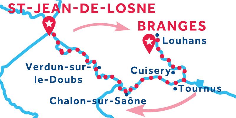 Saint-Jean-de-Losne ANDATA E RITORNO via Louhans