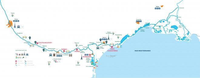 Mappa della regione di navigazione