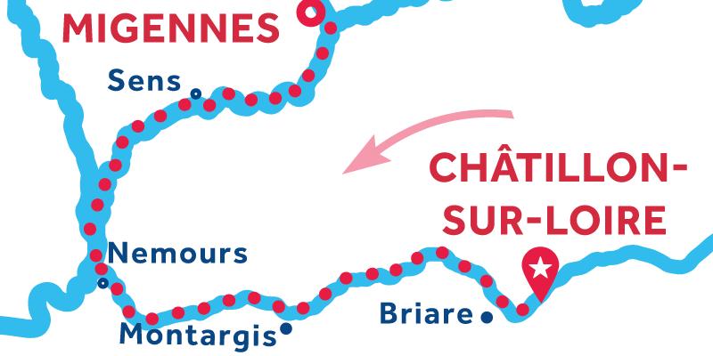 Da Châtillon-sur-Loire a Migennes via Montargis e Sens