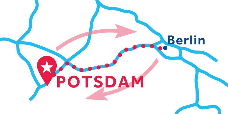 Potsdam ANDATA E RITORNO via Berlino (patente obbligatoria)