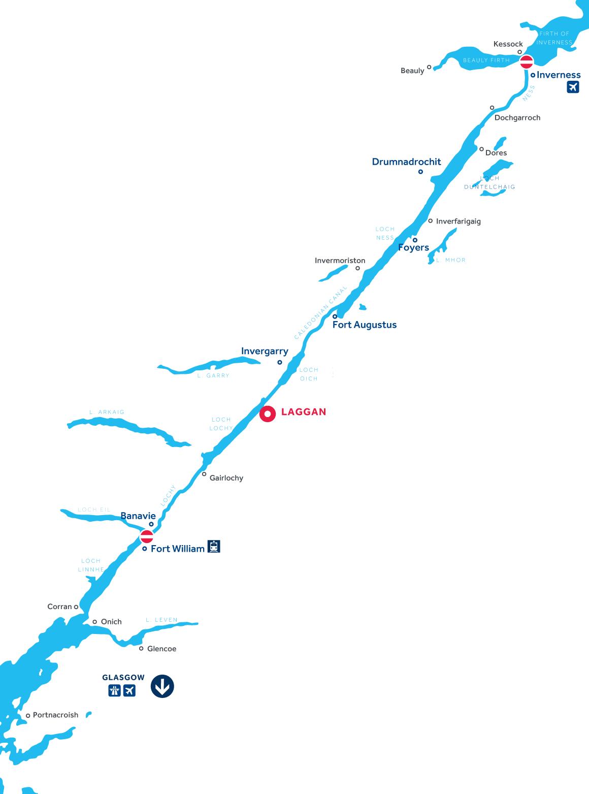 Mappa: Canale di Caledonia