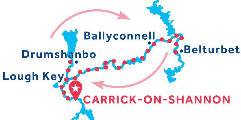 Carrick-on-Shannon ANDATA E RITORNO via Belturbet