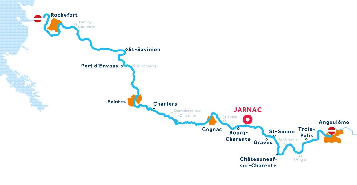 Mappa: Charente