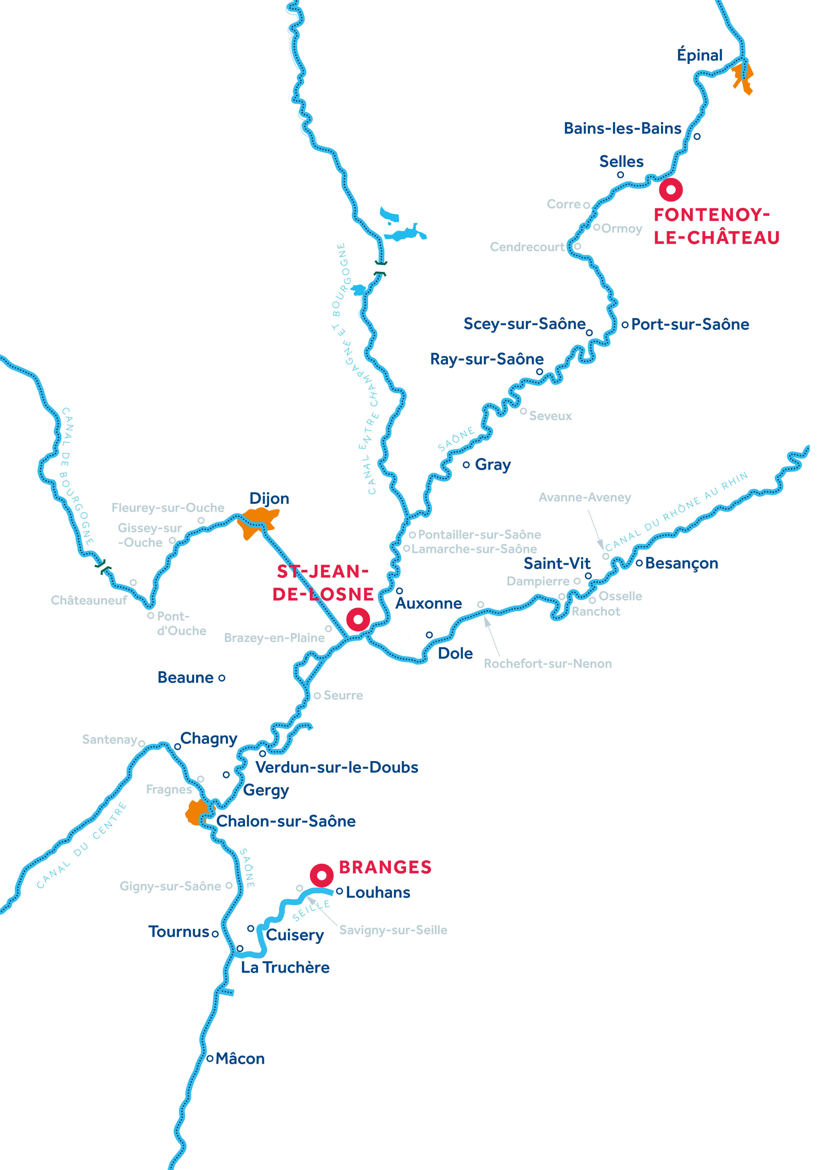 Mappa: Borgogna: Franche-Comté