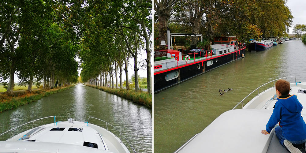 Canal du Midi in Houseboat