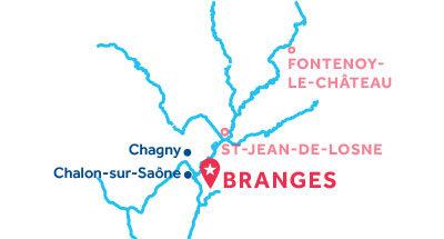 Piantina della base di Branges