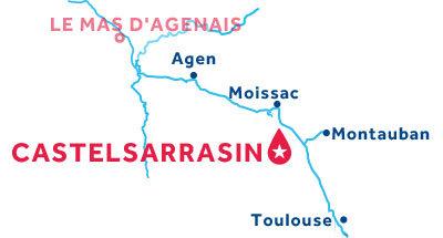 Piantina della base di Castelsarrasin