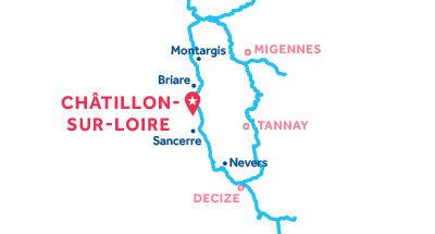 Piantina della base di Châtillon-sur-Loire