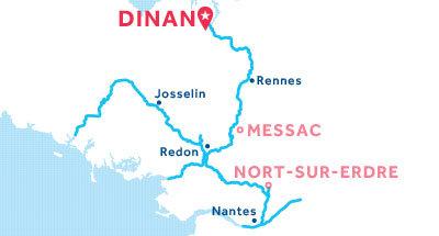 Piantina della base di Dinan