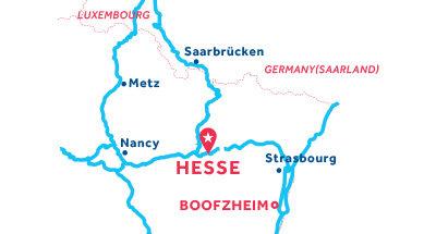 Piantina della base di Hesse