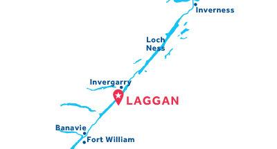Piantina della base di Laggan