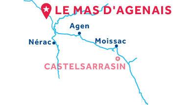 Piantina della base Le Mas-d'Agenais