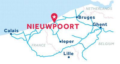 Piantina della base di Nieuwpoort