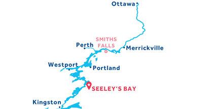 Piantina della base di Seeley's Bay