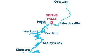 Piantina della base di Smith Falls