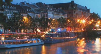 Barche di notte in Aquitania
