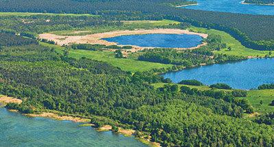 Veduta aerea dei laghi tedeschi
