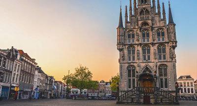 Piazza del mercato a Gouda, Paesi Bassi