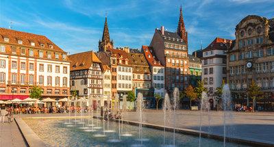 Piazza della città di Strasburgo