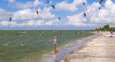 Windsurf sulla spiaggia di Workum