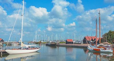 Barche su un lago in Olanda