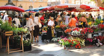 Mercato francese tradizionale