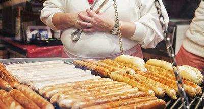 una salsiccia tradizionale tedesca