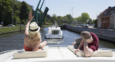 Relax al sole sui corsi d'acqua belgi