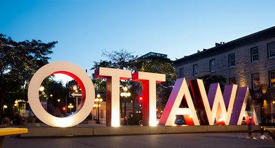 Il segno iconico di Ottawa nel cuore della città