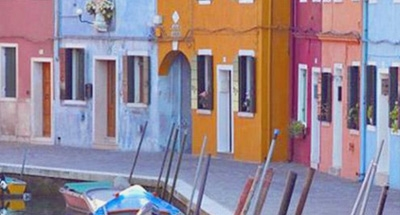 Case colorate a Venezia