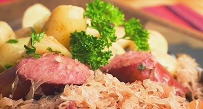 Salsicce e crauti