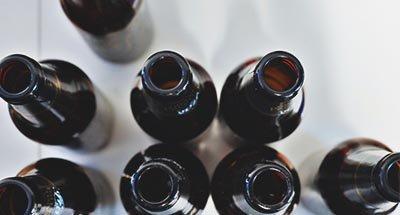 Bottiglie di birra vuote
