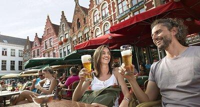 Birra in terrazza in Belgio