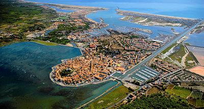 Vista aerea di Agde