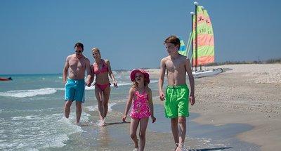 Vacanza in famiglia in spiaggia